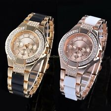 Bling Crystal Lady Women Girl Analog Bracelet Alloy Band Quartz Wrist Watch Gift