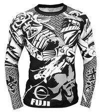 Fuji Musashi Long Sleeve MMA Rashguard - Black/White