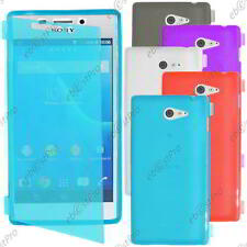 Housse Etui Coque Portefeuille Silicone Gel TPU  Sony Xperia M2 D2303