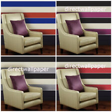 Olivia 2 - Wide Striped Wallpaper - Feature Stripe - 4 Colours To Choose