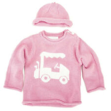 Adorable Girl's Pink Golf Cart Sweater by Trumpette Size 0-6mos