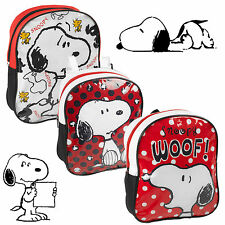 Kids Snoopy Backpack Rucksack School Boys Girls Lunch Food Picnic Bag Peanuts