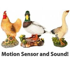 Large Decorative Ornamental Garden Motion Sensor With Sound Farm Birds Animals