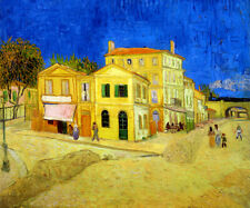 THE STREET WITH YELLOW HOUSE 1888 IMPRESSIONIST PAINTING BY VAN GOGH REPRO