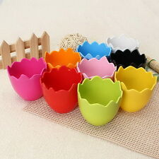 New 5PCS Egg Shaped Plastic Plant Pots Nursery Planter Flower Pots Home Decor