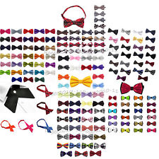Party Wedding Mens Tuxedo Solid Floral Grid Cotton Bow Tie Formal Bowtie Necktie