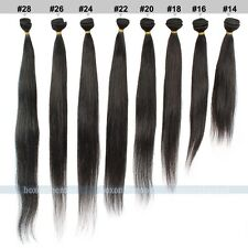 3 Bundles Brazilian Straight Remy Virgin Human Hair Weaving Weft Extensions 150g