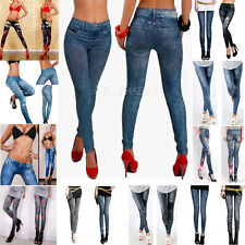 Sexy Women Skinny Jeggings Stretchy Pants Soft Leggings Denim Jean Pencil Tights