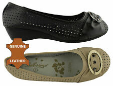 BELLISSIMO QUANT LADIES/WOMENS LEATHER SHOES/WEDGES/CASUAL/SOFT AND COMFORTABLE!