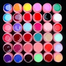 36 Colours Nail Art Tips Solid Builder UV Gel Set Decoration Extension 3 Styles