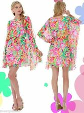 $278 Lilly Pulitzer Margurite Multi Lulu Floral Silk Caftan Dress