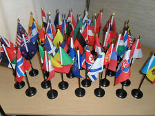 High Quality World Country Table/Desktop National Flags (countries A-F)