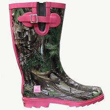 REALTREE AP XTRA CAMOUFLAGE, HOT PINK LADIES RAINBOOTS - LICENSED CAMO MS. JO JO