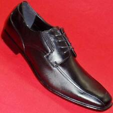 NEW Men's MARC ANTHONY MARCO Black Leather Loafers Lace up Casual/Dress Shoe