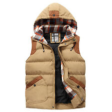 Wild men sleeveless cotton Jacket coat Winter men's hooded vest waistcoat WM0007