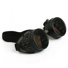 New sell Vintage Steampunk Goggles Glasses Welding Cyber Punk Gothic Rp