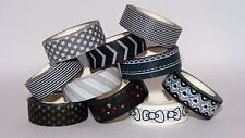 Washi Tape Decorative Self Adhesive Craft Paper Tape - Black & White - 10m Roll