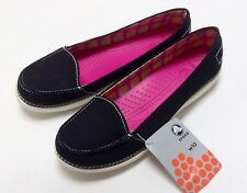 Crocs Melbourne  II Black / Oyster Womens Size 5 6 7 8 9 10 11 $40 CLEARANCE