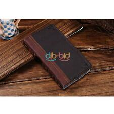 New Retro Corium Leather Flip Wallet Stand Case For iPhone 5S Samsung S3 S4 S5