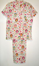 100% Woven Cotton Summer Owl Pajamas by Insomniax Womens S M L Sleepwear Sets