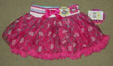 NWT HELLO KITTY Printed Tutu Skirt with Tulle Girl's 4 or 6 FREE USA SHIPPING