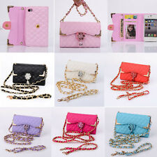 Bling Wristlet Handbag Leather Wallet Flip Cover Case For iPhone 4 4S Cheap