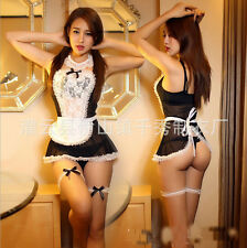 Sexy Women French Maid Fancy dress Halloween costumes Erotic Lingerie Cosplay