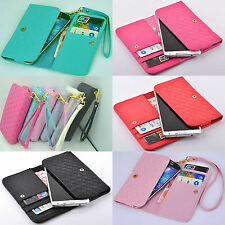 DELUXE Wallet Card Holder Full Cover Case For SAMSUNG mobile phone