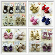 Infant Baby Boy Girl Newborn Soft Sole Snow Boots Prewalker Winter Warm Shoes US