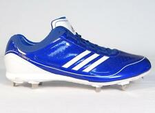 Adidas AdiZero Diamond King Blue Low Metal Baseball Softball Cleats Mens NEW