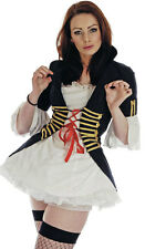 LADIES 1980s BLACK BUCCANEER PIRATE FANCY DRESS COSTUME OUTFIT NEW SIZE 8-10