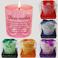 CANDLE GIFT SET IN BOX MESSAGE POETIC WRITING NEW MOOD SPECIAL POEM CANDLES WAX