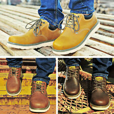 Men's Spring Autumn Leather Lace Up Oxford Shoes Fashion Big Head Shoes WX0013