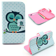 New Cute Owl Magnetic Wallet Stand PU Leather Case Cover For Various Smart Phone