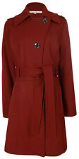 Kenneth Cole Women's Wool Blend Belted Trench Coat