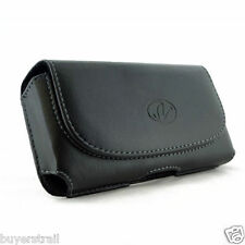 Leather Sideways Belt Clip Case for Cell Phones fits with Otterbox PREFIX on it