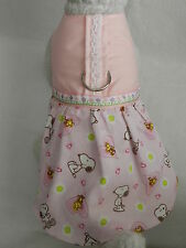DOG CAT FERRET~Harness Dress Pink Corduroy SNOOPY & WOODSTOCK Daisy Outfit