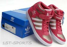 ADIDAS WOMENS TRAINERS SHOES, FORUM UP W, UK 6.5 to 7.5 PINK GOLD WHITE SUEDE