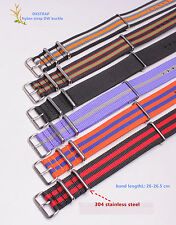 20MM Nylon Watch band watch strap 3 lattice color watch band 21color available