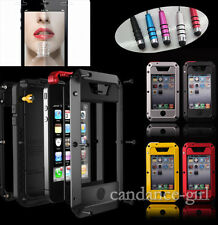 Aluminum Otterbox Gorilla Glass Waterproof Shockproof Dirt Proof iPhone4/4S/5/5S
