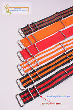 22mm  Watchband Woven Nylon Watch Straps Wristwatch Band 39 color avaliable