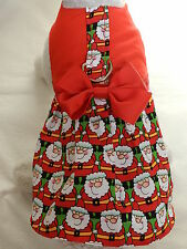 DOG CAT FERRET Custom Harness Dress~SANTA CLAUS Santa Gift Christmas Outfit Bow
