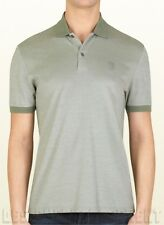 GUCCI Mens green Embroidered HYSTERIA Crest cotton/silk POLO shirt NWT Authentic