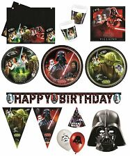 STAR WARS HEROES VILLAINS Birthday PARTY RANGE(Tableware Balloons & Decorations)