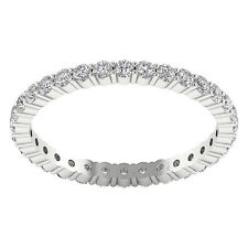 I1/G 1.30Ct Natural Diamond White Gold Excellent Eternity Anniversary Ring Band