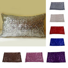 Glitter Sequins Throw Pillow Case Lounge Cafe Home Decor Cushion Cover 50x30CM