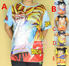 Dragon Ball Z full Print Tee Son Goku Full Printed t shirt M L XL 5 style