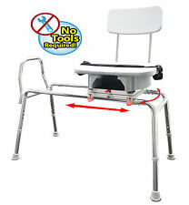 Sliding Transfer Bench with Padded Cut Out Seat and Back, 37564,37584,37594