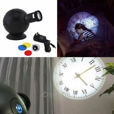LED Analogue Projection Wall Clock Cold Light Beam Virtual Shadow Home Bedroom