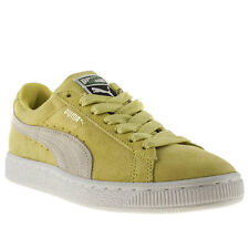 PUMA SUEDE CLASSIC WOMENS YELLOW SUEDE SPORTS TRAINERS